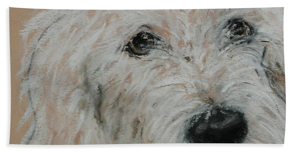 Dog Beach Towel featuring the drawing High Spirits by Cori Solomon