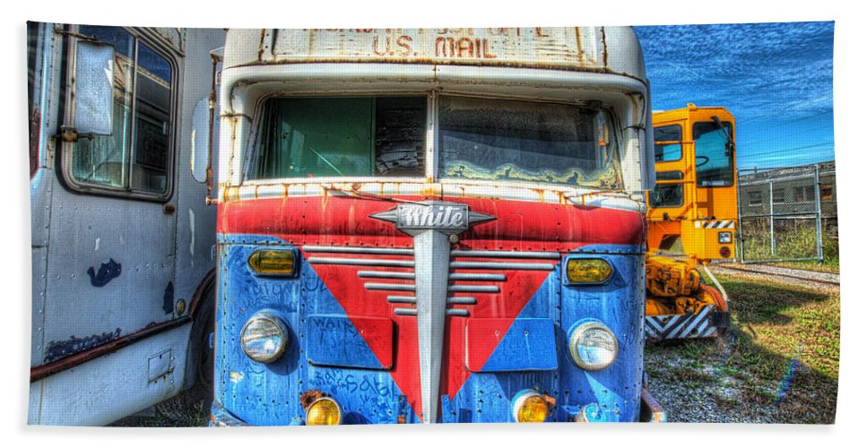 Historic Beach Towel featuring the photograph Highway Post Office U.s. Mail by Greg Hager