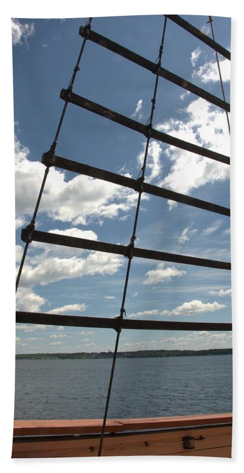 Tall Ships Beach Towel featuring the photograph Highway To Heaven by Valerie Kirkwood