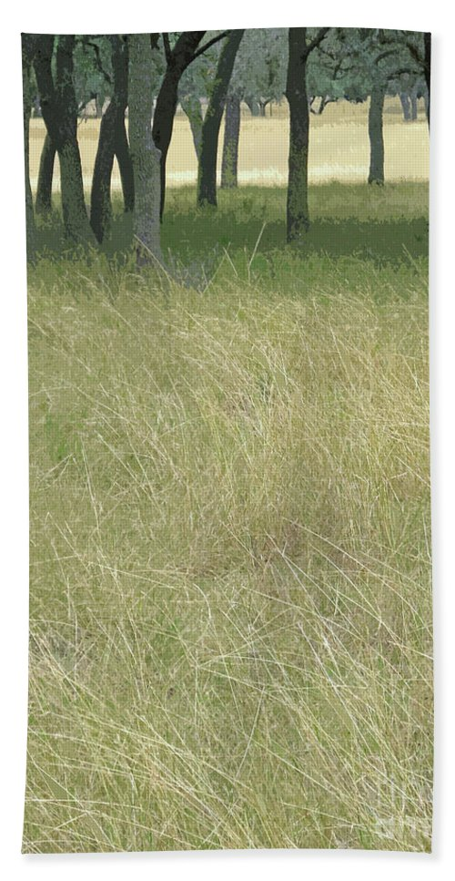 Texas Hill Country Framed Print Beach Towel featuring the photograph Hill Country Calm by Joe Jake Pratt