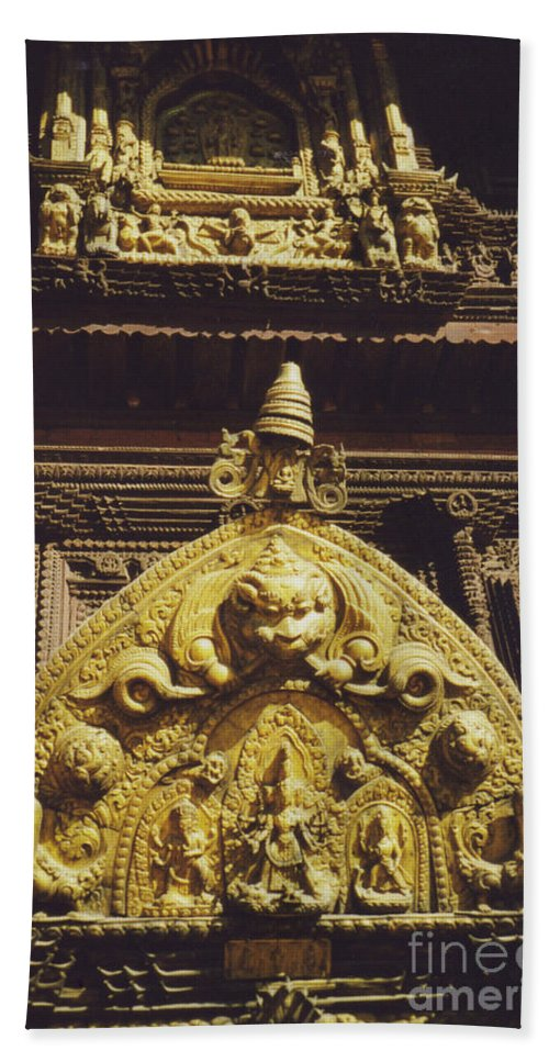 First Star Beach Towel featuring the photograph Hindu Gold By Jrr by First Star Art