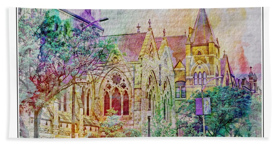 Architecture Beach Towel featuring the photograph Historic Churches St Louis Mo - Digital Effect 5 by Debbie Portwood