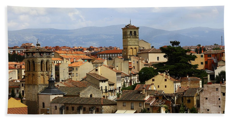 Segovia Beach Towel featuring the photograph Historic Segovia by James Brunker