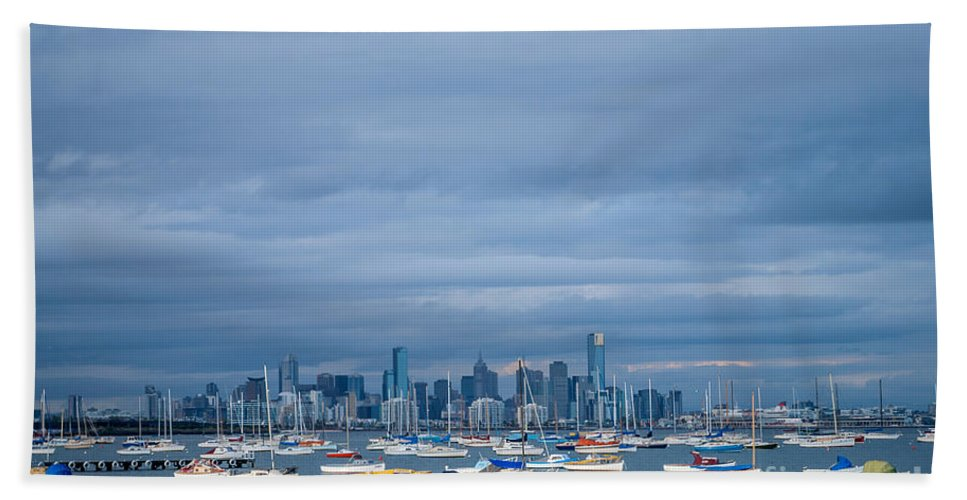 Williamstown Beach Towel featuring the photograph Hobsons Bay by Ray Warren