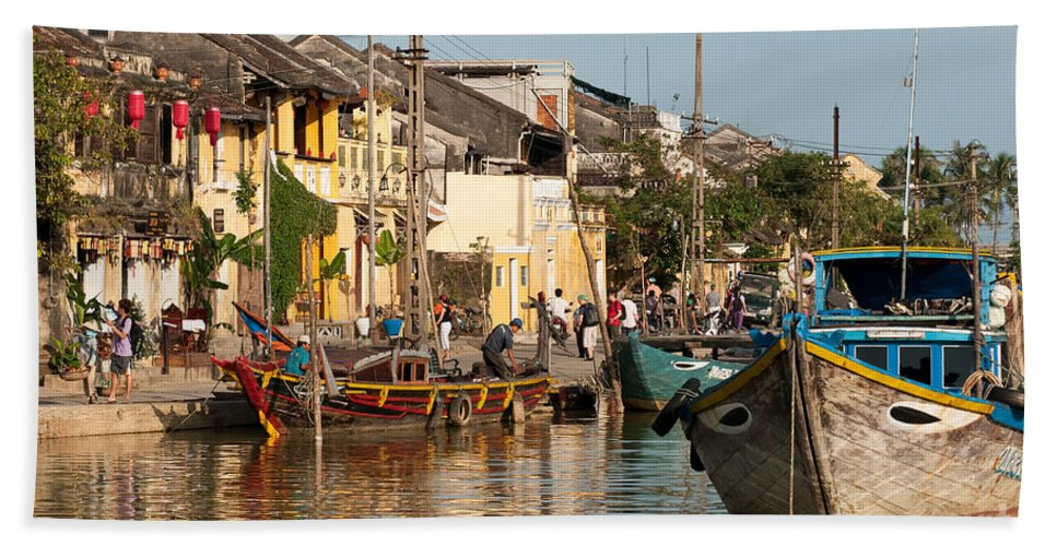 Vietnam Beach Towel featuring the photograph Hoi An Fishing Boats 02 by Rick Piper Photography