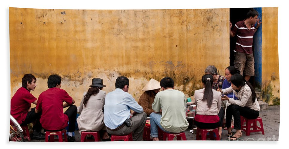 Vietnam Beach Towel featuring the photograph Hoi An Noodle Stall 05 by Rick Piper Photography