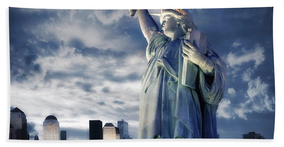 Usa Beach Towel featuring the photograph Holding Your Torch by Edmund Nagele