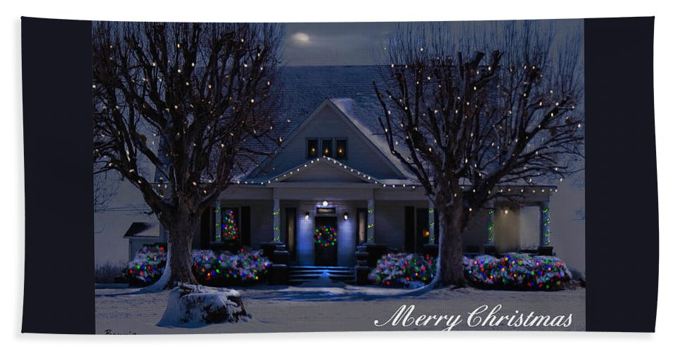 Home Beach Towel featuring the photograph Home For Christmas by Bonnie Willis