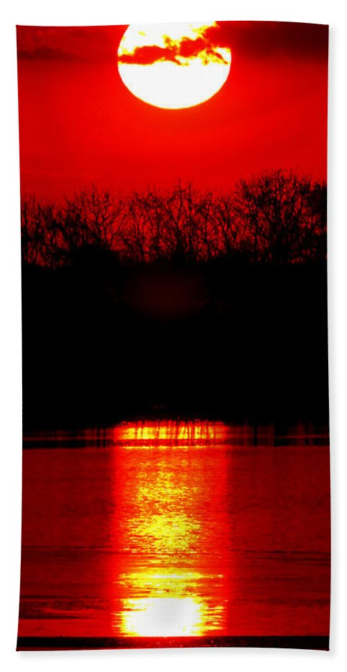 Sunset Beach Towel featuring the photograph Home by Olivier Le Queinec