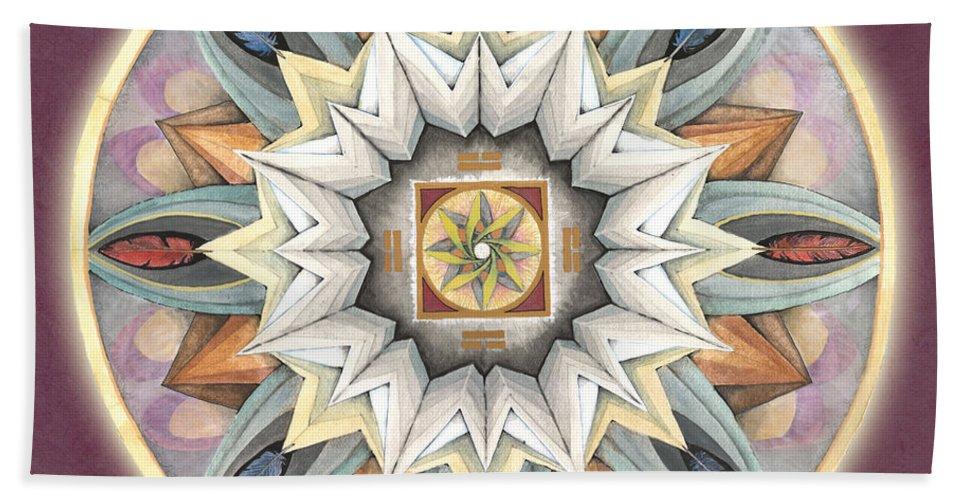 Mandala Art Beach Towel featuring the painting Honor Mandala by Jo Thomas Blaine