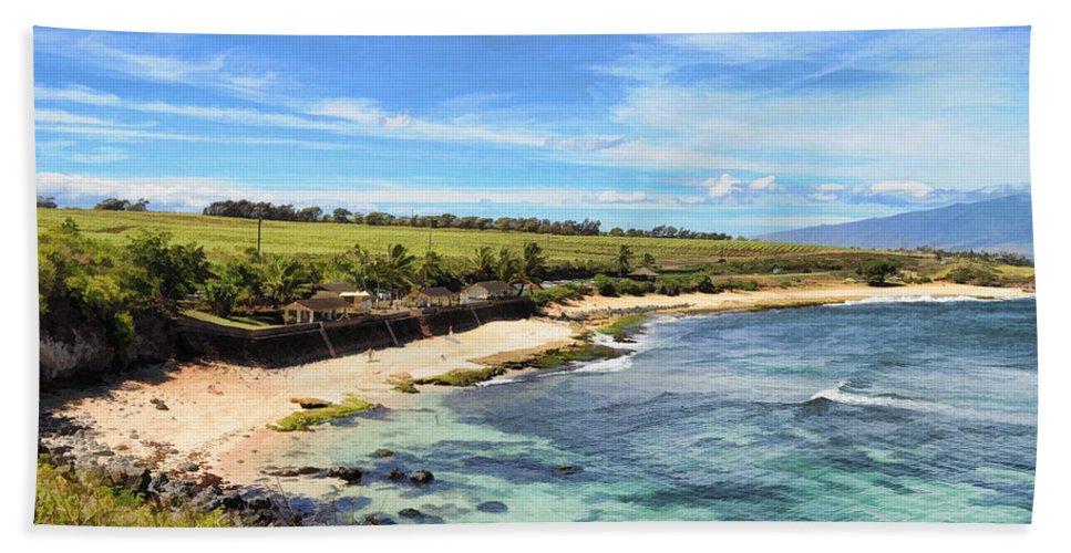 Nature Beach Towel featuring the photograph Ho'okipa Beach Park - Maui by Paulette B Wright