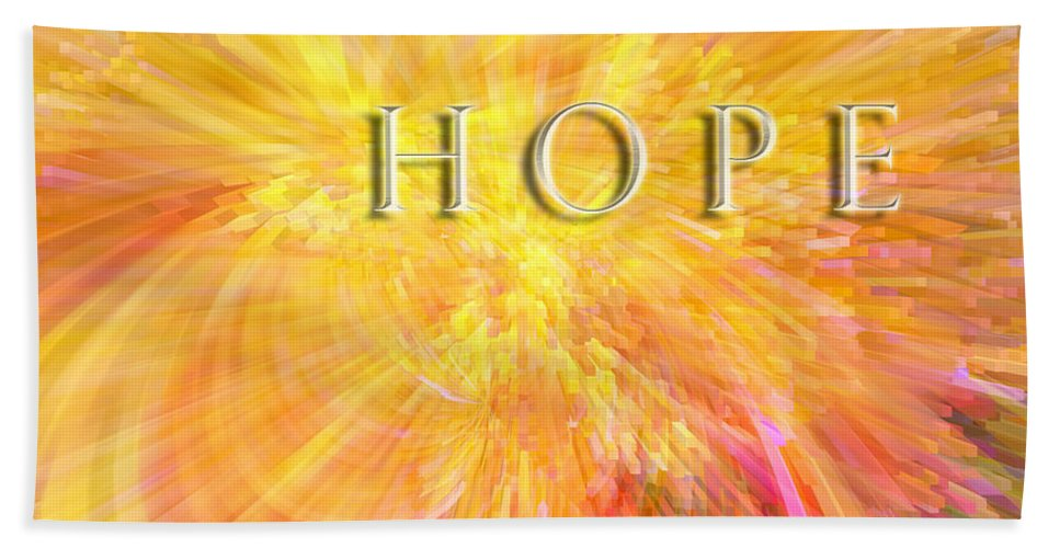 Hope Beach Towel featuring the digital art Hope by Margie Chapman