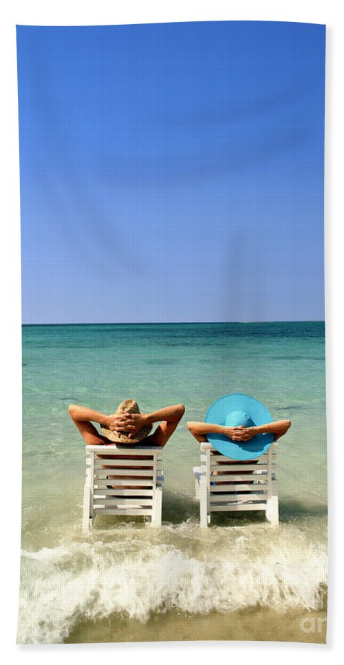 Young Beach Towel featuring the photograph Horizon Blues by Edmund Nagele