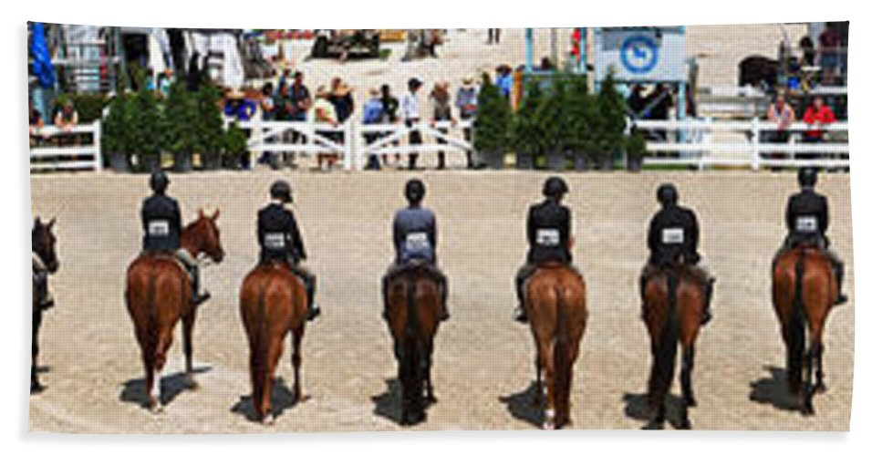 Horses Beach Towel featuring the photograph Horseshow Pano by Alice Gipson