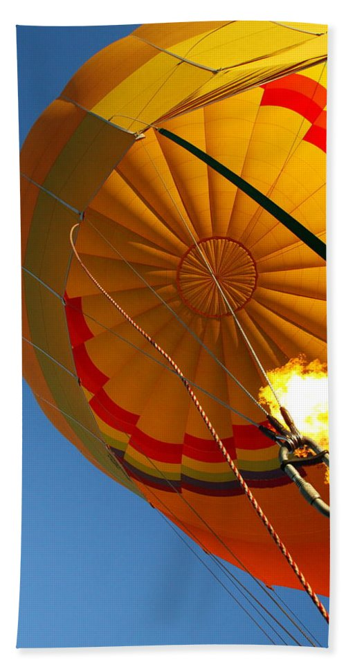 Hot-air Balloon Beach Towel featuring the photograph Hot Air Ballooning 2am-29241 by Andrew McInnes