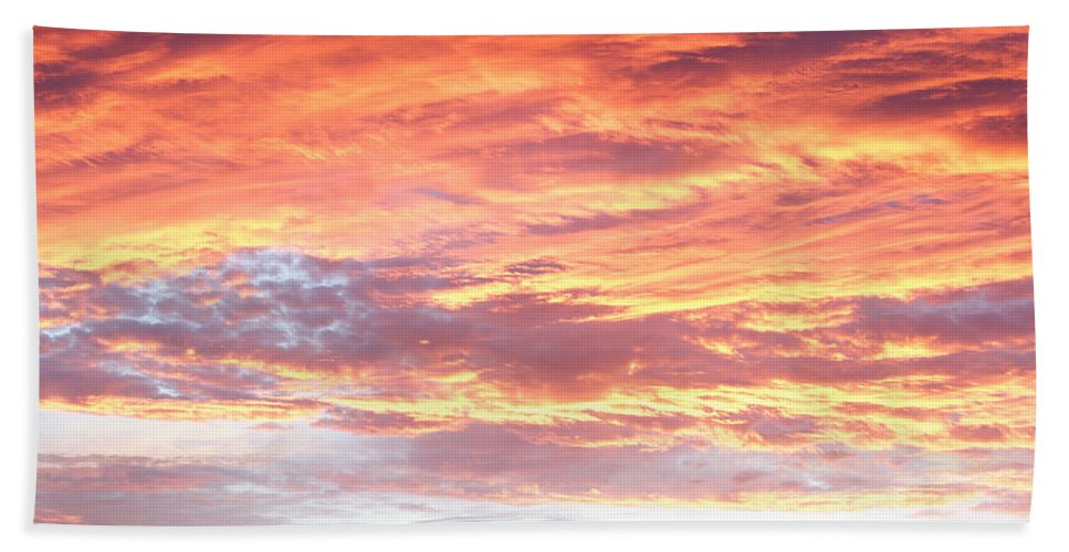Abstract Beach Towel featuring the photograph Hot Sky by Les Cunliffe