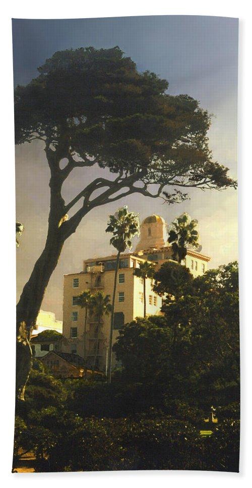 Landscape Beach Sheet featuring the photograph Hotel California- La Jolla by Steve Karol