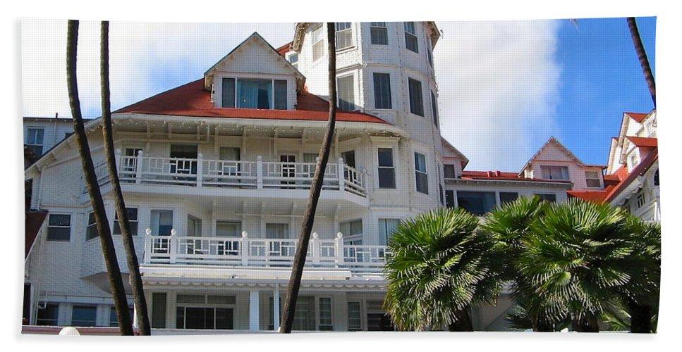 Hotel Beach Towel featuring the photograph Hotel Del Coronado by Denise Mazzocco
