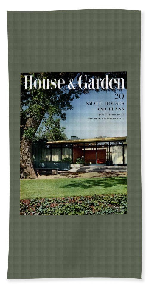 House & Garden Cover Of The Kurt Appert House Beach Towel