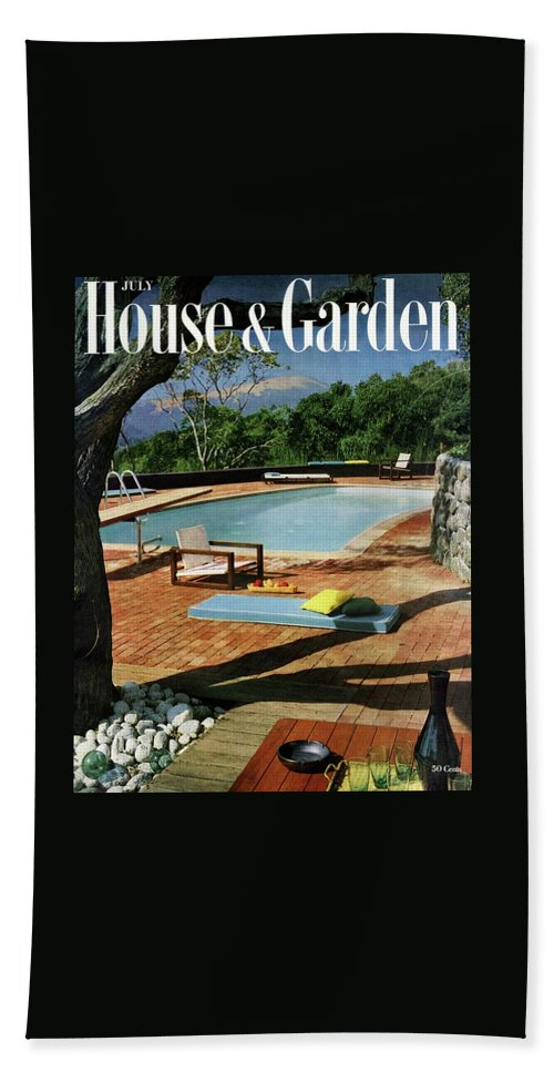 House And Garden Cover Featuring A Terrace Beach Towel