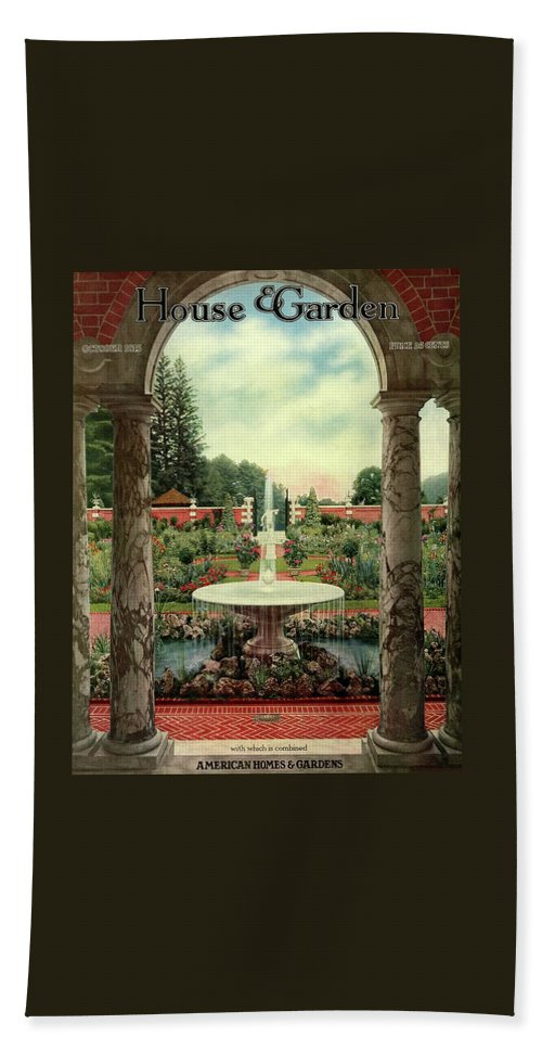 House And Garden Beach Towel featuring the photograph House And Garden Cover by Herbert Angell