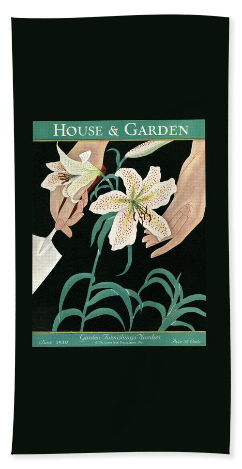 House And Garden Garden Furnishings Number Beach Towel