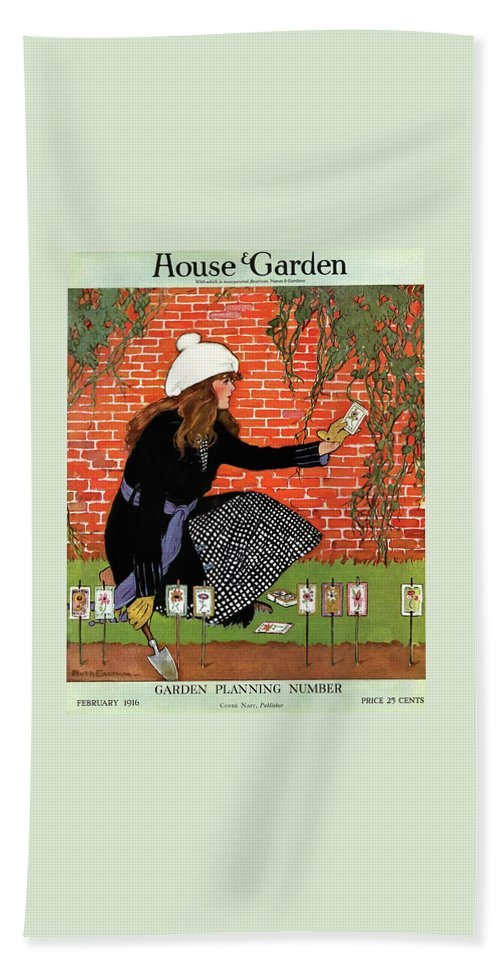 House And Garden Garden Planting Number Cover Beach Towel