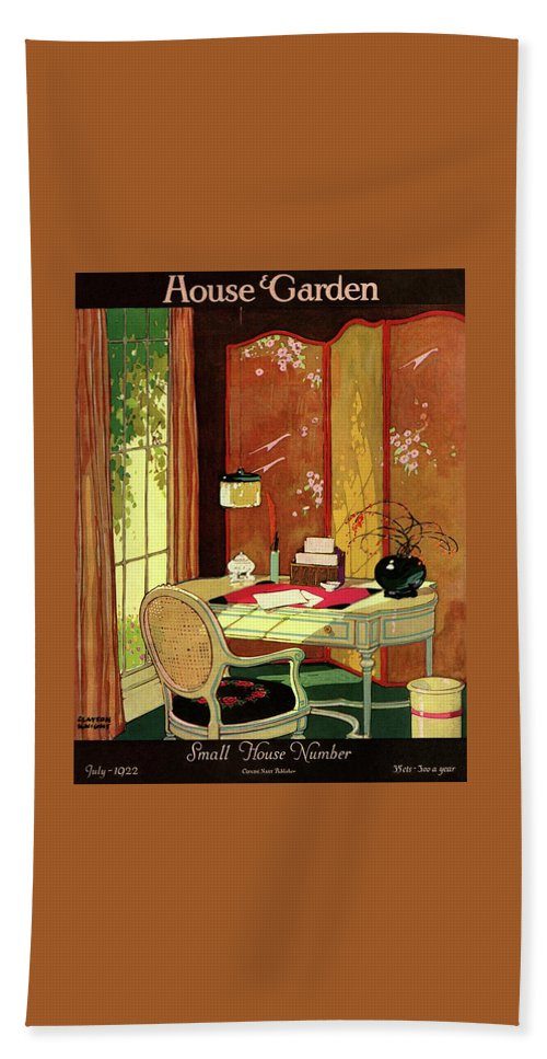 House And Garden Beach Towel featuring the photograph House And Garden Small House Number by Clayton Knight