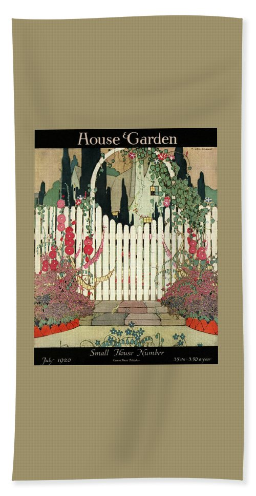 House And Garden Beach Towel featuring the photograph House And Garden Small House Number by H. George Brandt