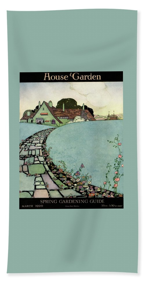 House And Garden Beach Towel featuring the photograph House And Garden Spring Garden Guide by Harry Richardson