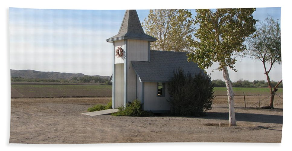 Patzer Beach Sheet featuring the photograph House Of The Lord by Greg Patzer