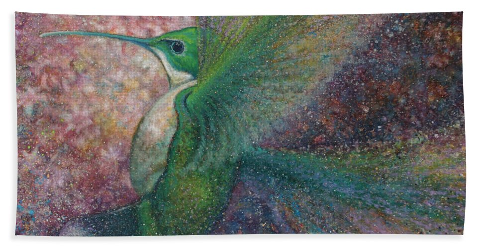 Wildlife Beach Towel featuring the painting Hummer I by Robyn Ryan