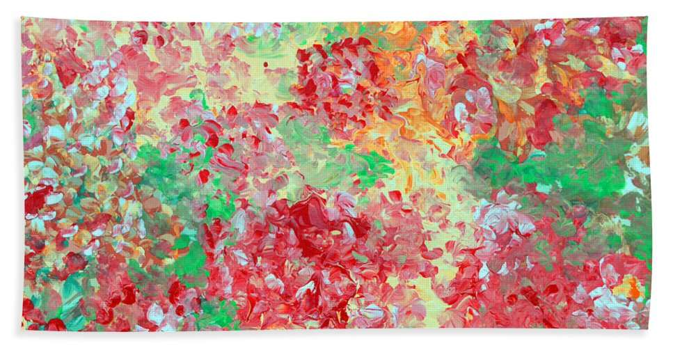 Print Beach Towel featuring the painting Hydrangeas II by Alys Caviness-Gober