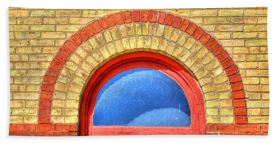 Window Beach Towel featuring the photograph I See Blue by Thomas Young