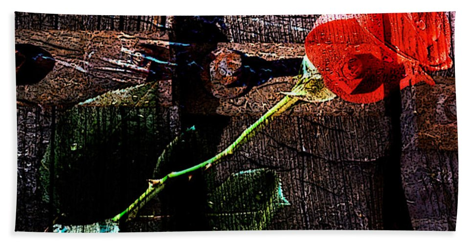 Vanentines Day Art Mixed Media Beach Towel featuring the mixed media I Will Always Love You by Marvin Blaine