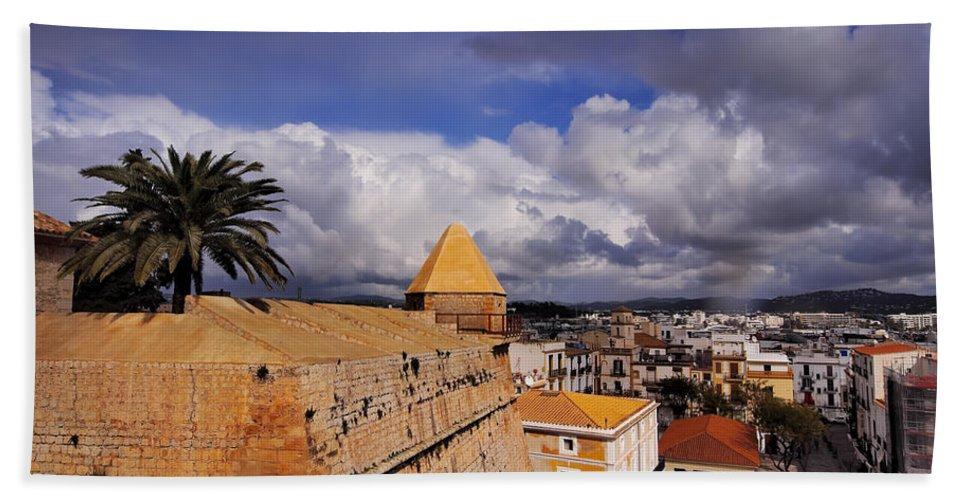 Balearic Beach Towel featuring the photograph Ibiza Town Walls by Karol Kozlowski