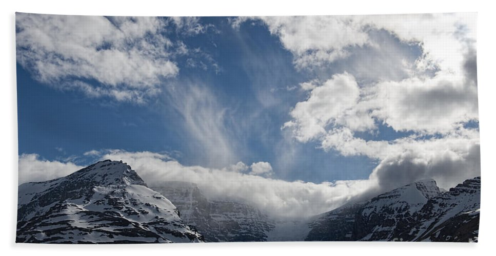 Canadian Rockies Beach Towel featuring the photograph Ice Field Parkway by David Arment
