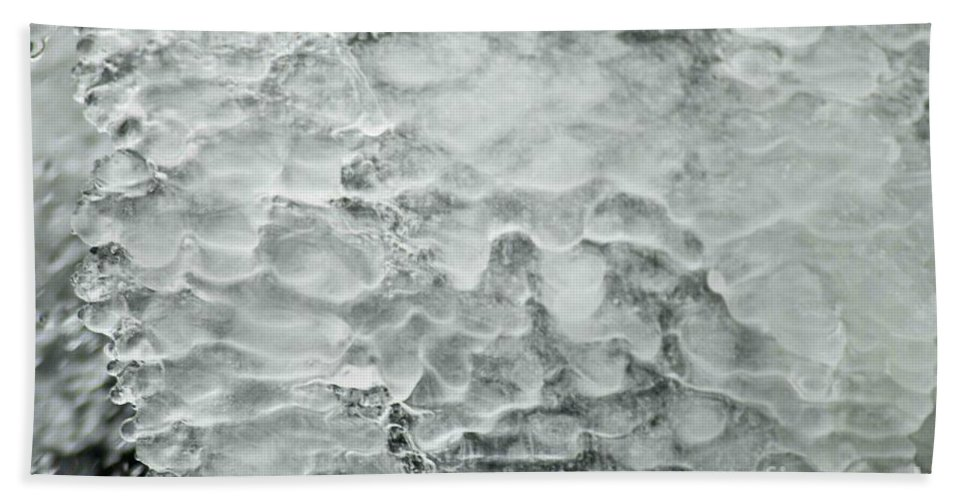 Ice Beach Towel featuring the photograph Ice Formations by Optical Playground By MP Ray