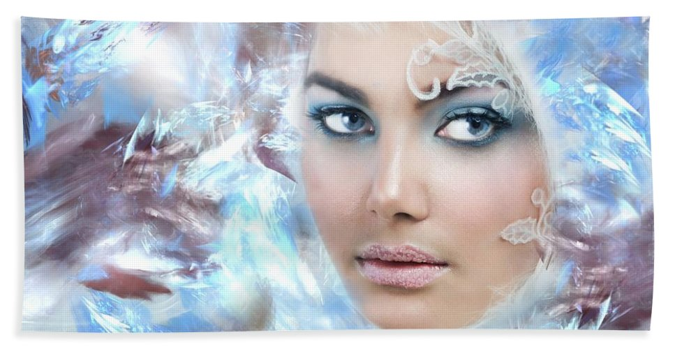 Ice Woman Beach Towel featuring the photograph Ice Queen by Sylvia Thornton