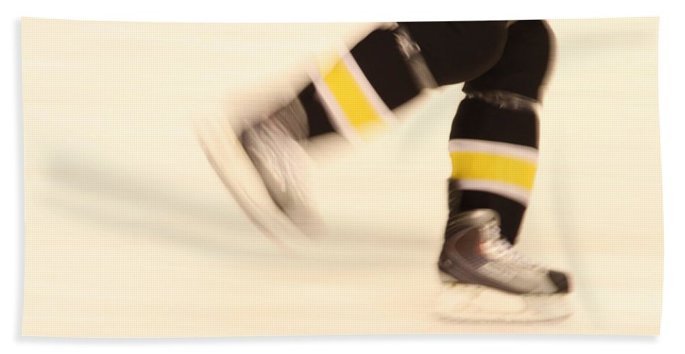 Hockey Beach Towel featuring the photograph Ice Speed by Karol Livote