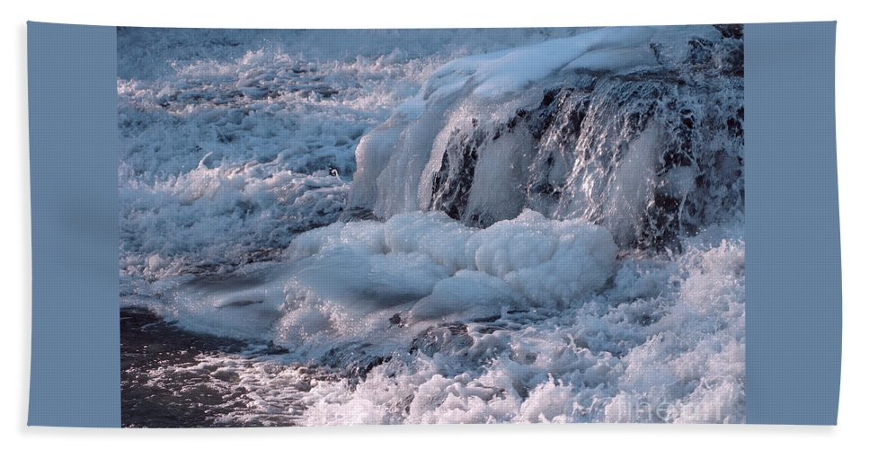 Winter Beach Towel featuring the photograph Iced Water by Ann Horn