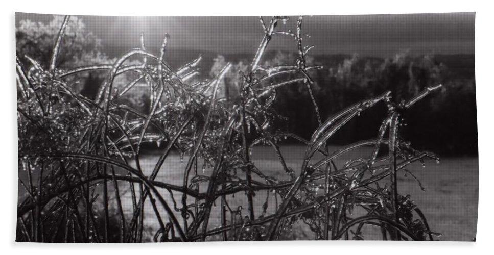 Sunrise Beach Towel featuring the photograph Icerise by DJ Florek