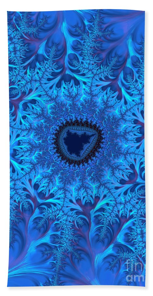 Blue Beach Towel featuring the digital art Icy Blue by Heidi Smith