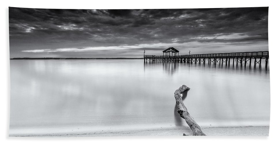 Black And White Beach Towel featuring the photograph if I shot film by Edward Kreis