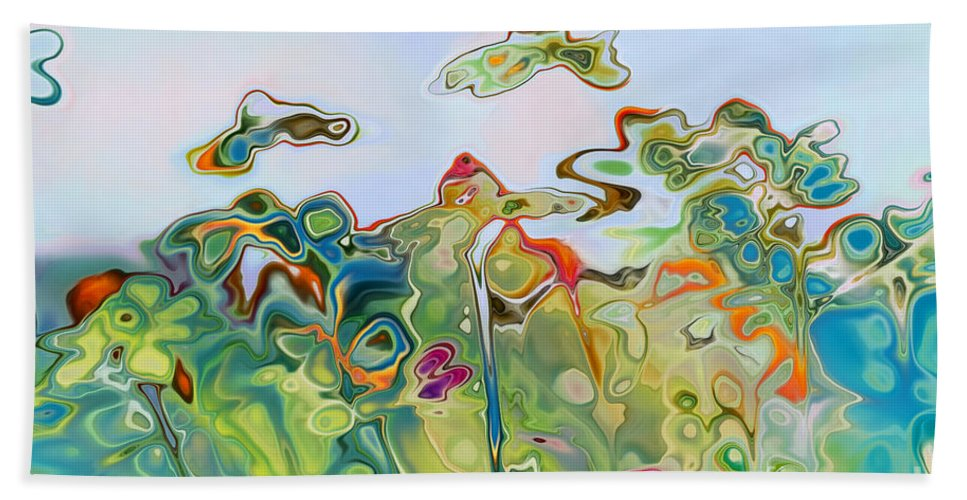 Daisies Beach Towel featuring the digital art Imagine Af11 by Variance Collections
