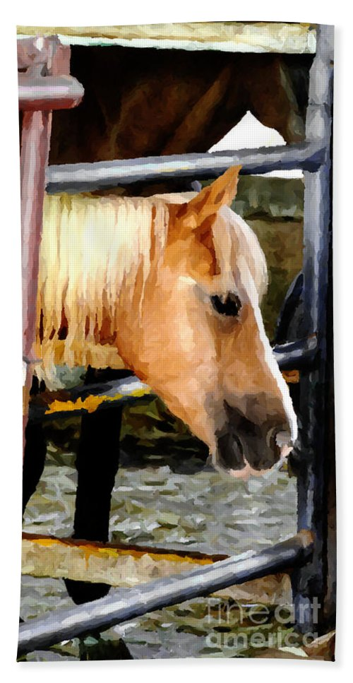 Western Beach Towel featuring the photograph Impressionist Horse by Doc Braham