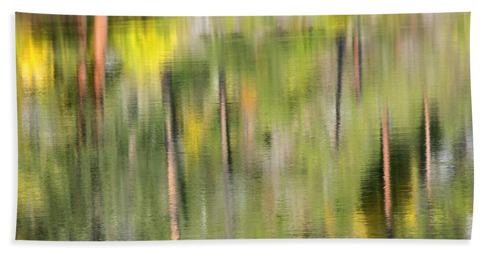 Reflection Beach Towel featuring the photograph Impressions Of Autumn by Mike Dawson