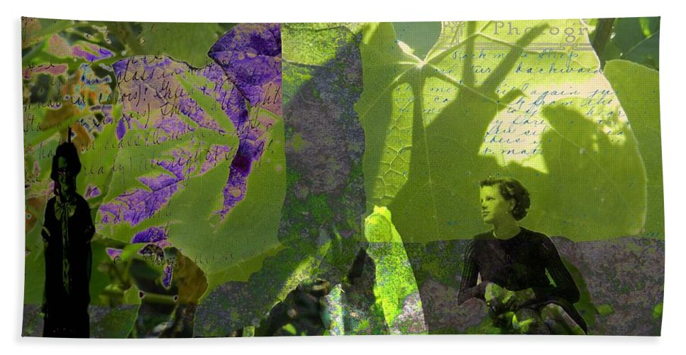 Digital Art Beach Towel featuring the digital art In A Dream by Cathy Anderson