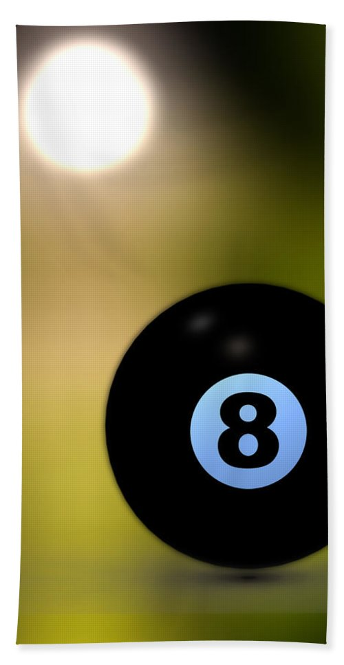 8 Ball Beach Towel featuring the photograph In Front Of The Eight Ball by Bob Orsillo