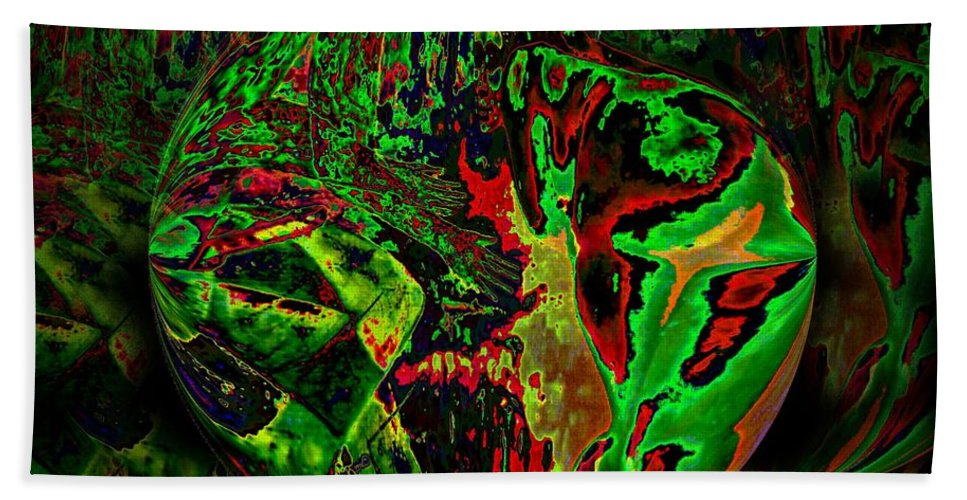 Genio Beach Towel featuring the mixed media In The Rock 'n' Roll Jungle by Genio GgXpress
